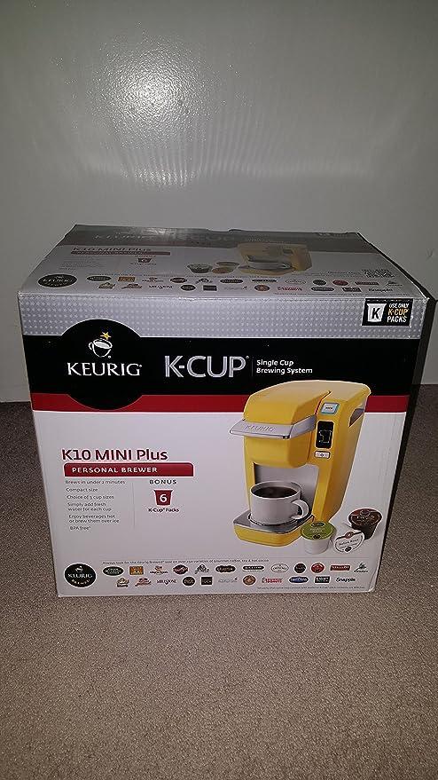 Keurig K10 Mini Plus Brewing System, Banana Yellow