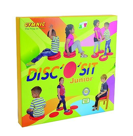 Gymnic DiscoSit - Sillín Disco Junior Para Mejorar Postura | Concentración | TDAH | Estabilidad (33cm) - Cojín Hinchable Tipo Wobble Cushion - Previene ...
