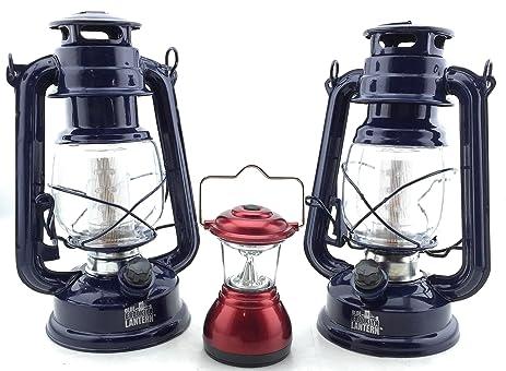 Hurricane Lamp LED Camping Lantern (2 Pack) And Bonus Mini LED Lantern