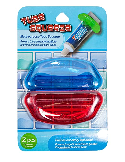 Amazon.com: Brite Concepts Tube Squeezers, 2 Count - Colors Vary, 2 Pack (4 Squeezers Total): Health & Personal Care