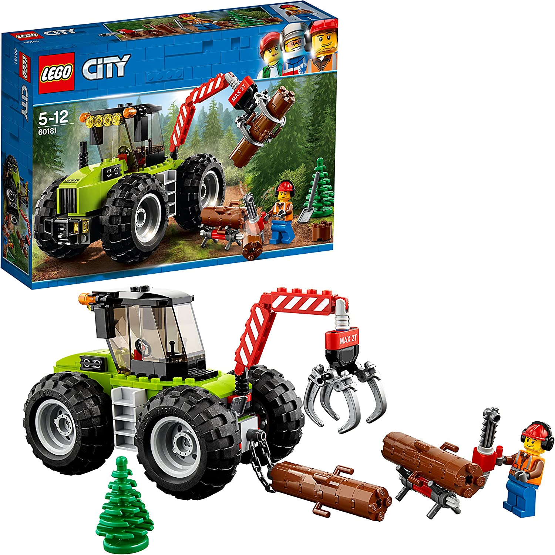 LEGO City Great Vehicles - Tractor Forestal, Juguete de Construcción para Niños y Niñas de 5 a 12 Años con Piezas, Minifigura y Vehículo (60181)