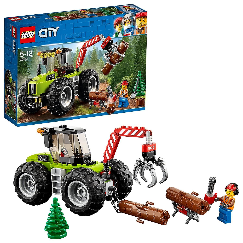 LEGO City - Le tracteur forestier - 60181 - Jeu de Construction