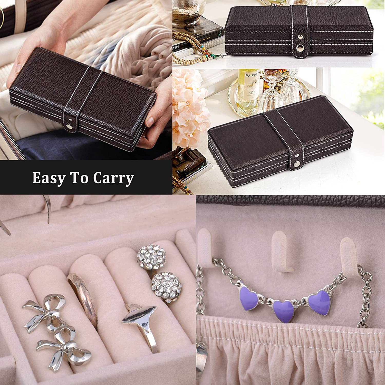 Amazon.com: Kendal Portable Caja de joyas almacenamiento ...