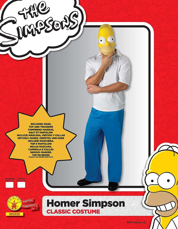 Rubies - The Simpsons disfraz de Homer clásico para adulto (880658-STD): Amazon.es: Juguetes y juegos