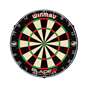 Winmau Blade 5 Bristle Dartboard with All-New Thinner Wiring for Higher Scoring and Reduced Bounce-Outs (3-Pack)