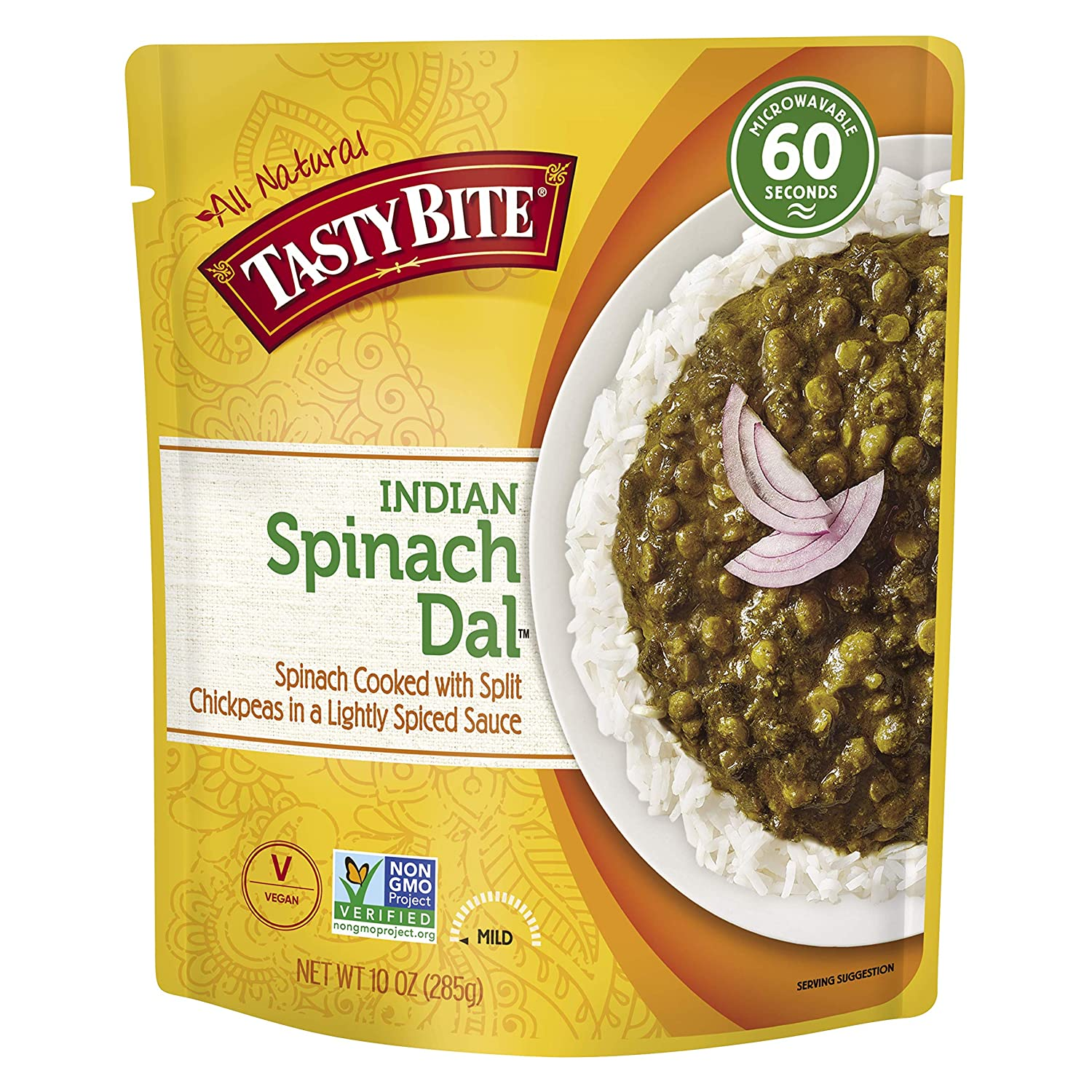Tasty Bite Spinach Dal Microwaveable Ready to Eat Entrée, 10 Ounce Pouches (Pack of 6)