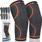 MODVEL 2 Pack Knee Brace | Knee Compression Sleeve for Men & Women | Knee Support for Running | Medical Grade Knee Pads for M