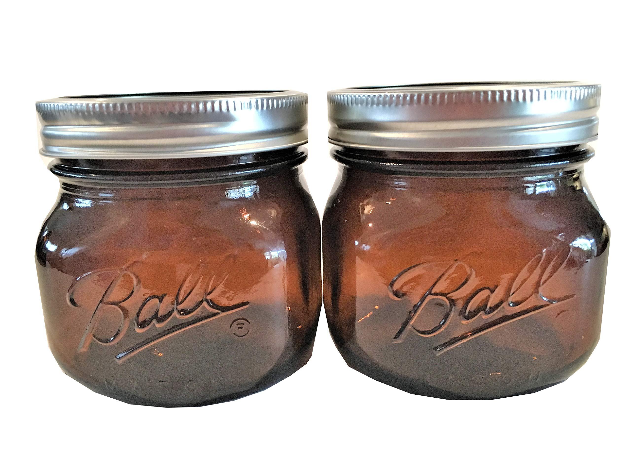 Ball Mason Jars-16 oz. Amber-Set of 2-NEW COLOR !!!