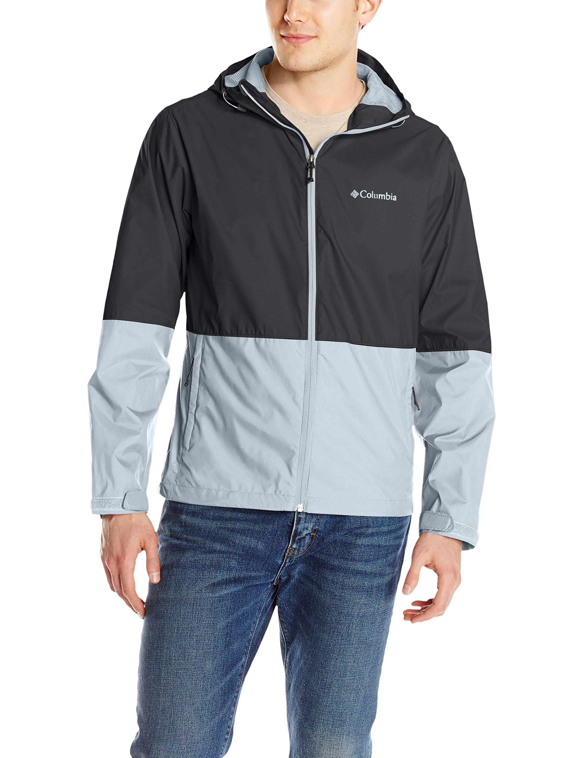 Columbia Men's Roan Mountain Jacket, Black/Grey Ash, Large