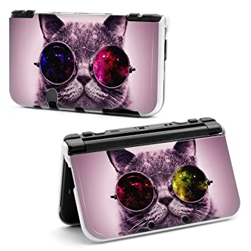 XL Funda para Nintendo 3DS, diseño de gato con gafas de sol ...
