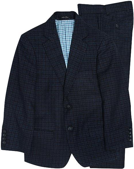 Amazon.com: t.o. colección niños traje azul pequeño Plaid ...