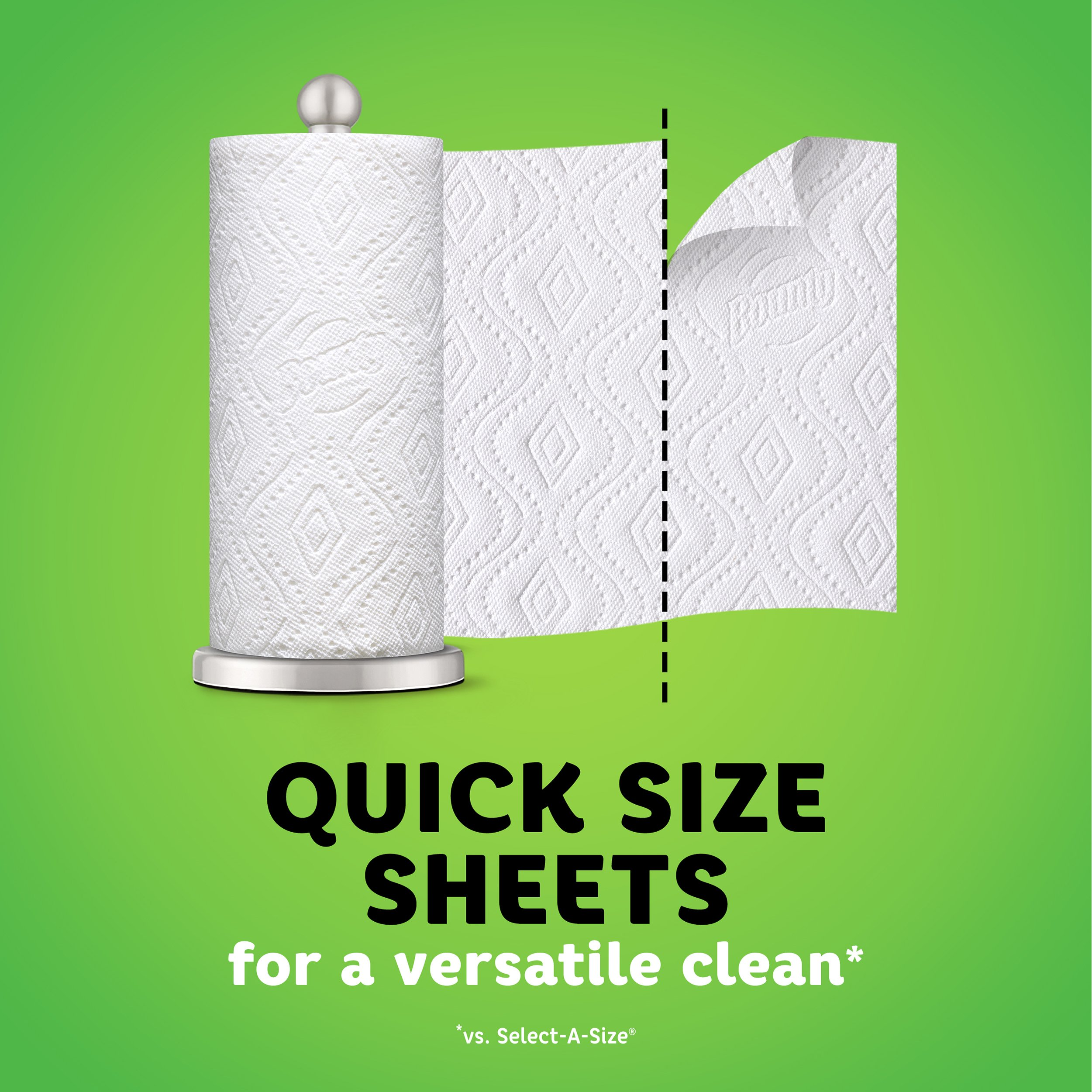 Bounty Quick-Size Paper Towels, White, Family Rolls, 12 Count (Equal to 30 Regular Rolls) by Bounty (Image #5)