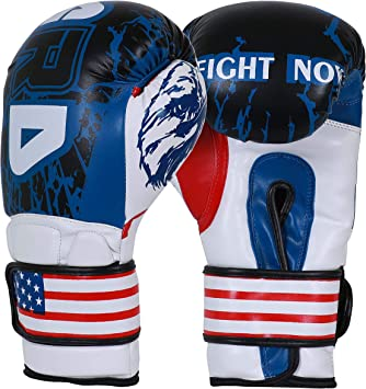 ARD® Art Leather Boxing Gloves Fight Punching Bag MMA Muay Thai Kickboxing Blue