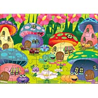 Kidz Valle Mushroom Houses 48 Pieces Tiling Puzzles (Jigsaw Puzzles, Puzzles for Kids, Floor Puzzles), Puzzles for Kids Age 4 Years and Above
