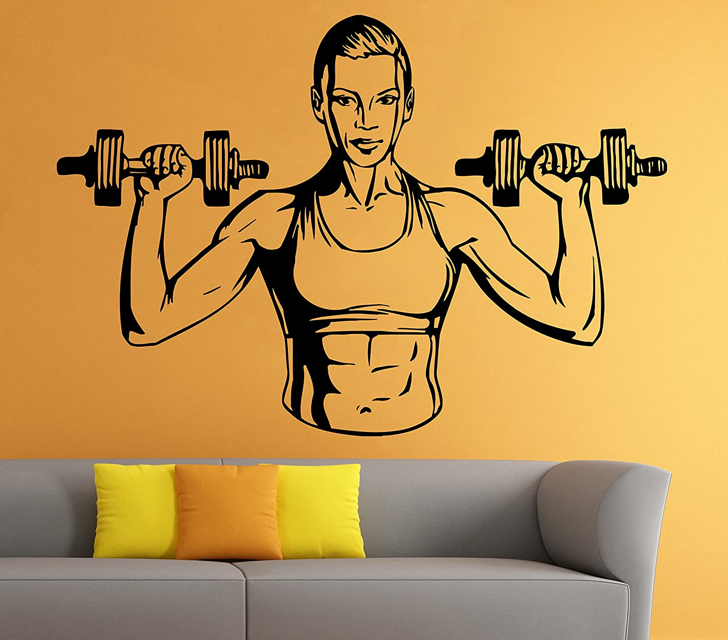 Wall Stickers Vinyl Decals Home Decor Fitness Powerlifting Gym Sport ...