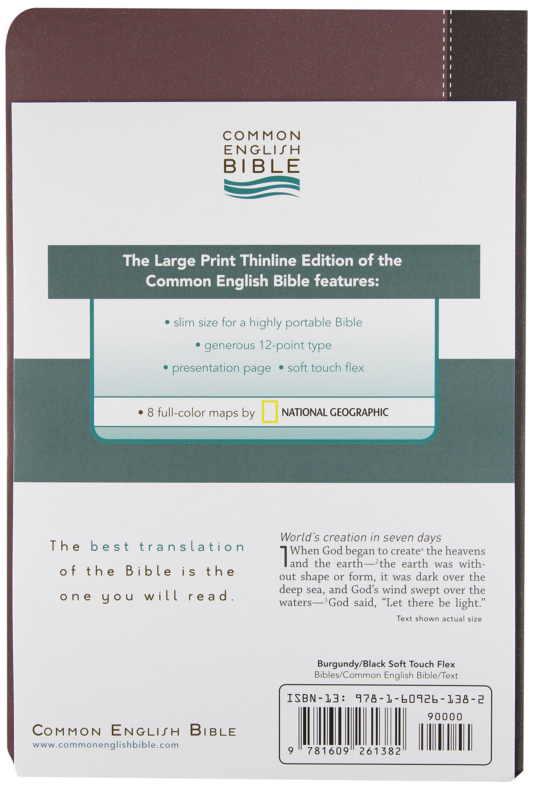 ceb common english bible large print thinline flex common english