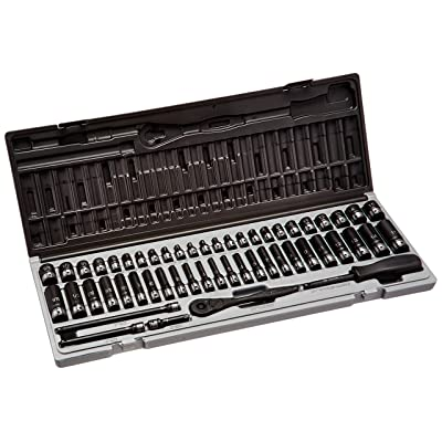 "Grey Pneumatic (89653CRD) 1/4"" Drive 53-Piece 6-Point Fractional and Metric Duo Socket Set"