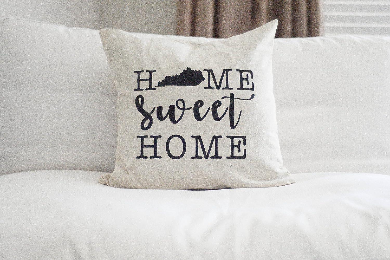 Toll2452 Home Sweet Home Funda de Almohada Kentucky Almohada ...