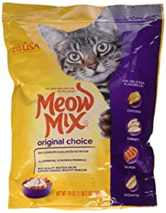 Meow Mix Original Dry Cat Food, 18-Ounce