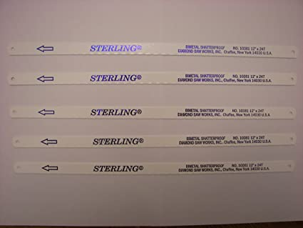 Sterling hand hacksaw blades 5 12 24t made in usa tools products sterling hand hacksaw blades 5 12quot greentooth Choice Image