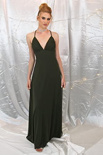 905b7090965 Image Unavailable. Image not available for. Color  Handmade Women s Olive  Green Evening Dress ...