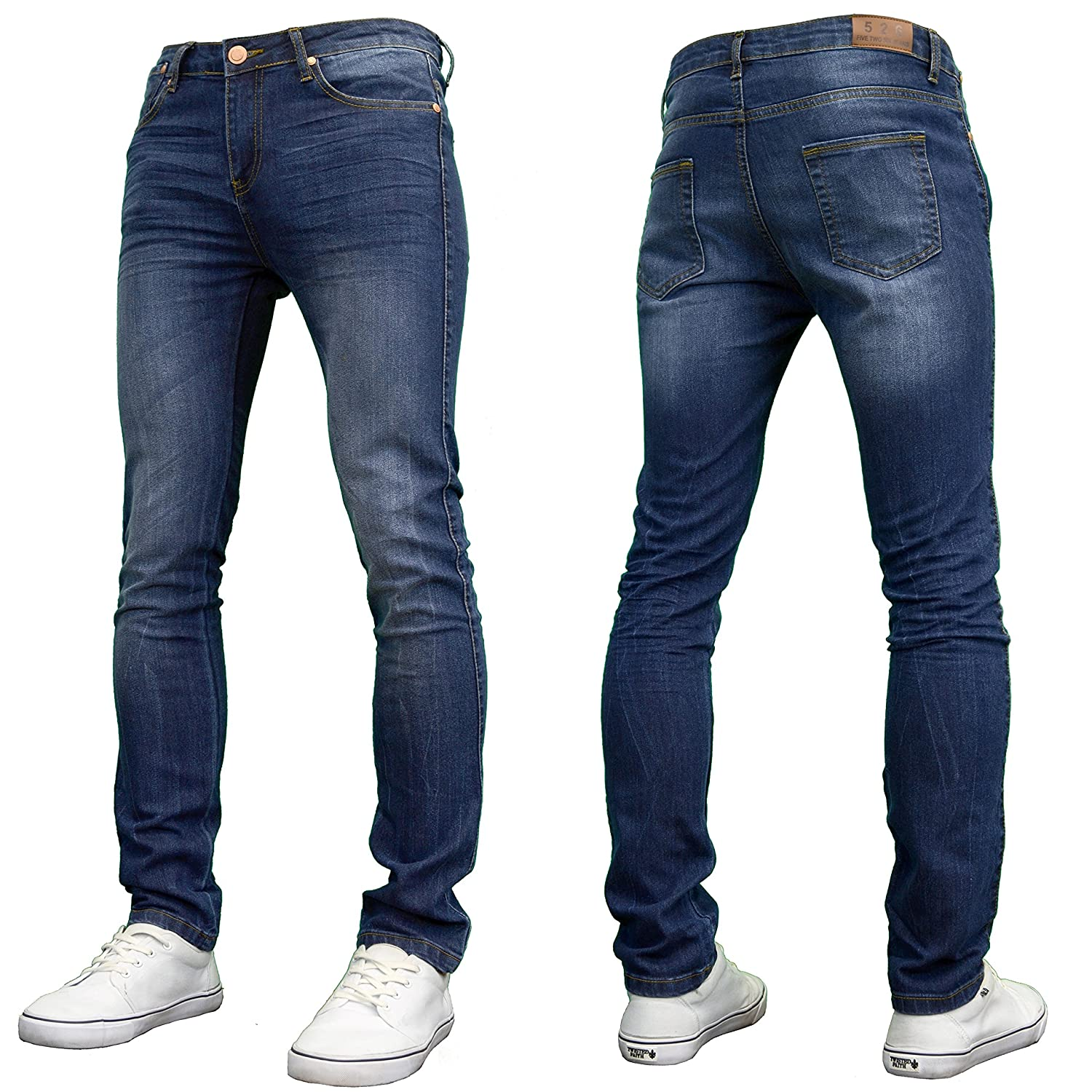 526Jeanswear Mens Kato Stretch Super Skinny Fit Jeans