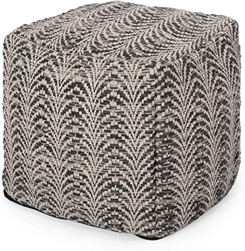 Christopher Knight Home Markson Boho Fabric Cube Pouf