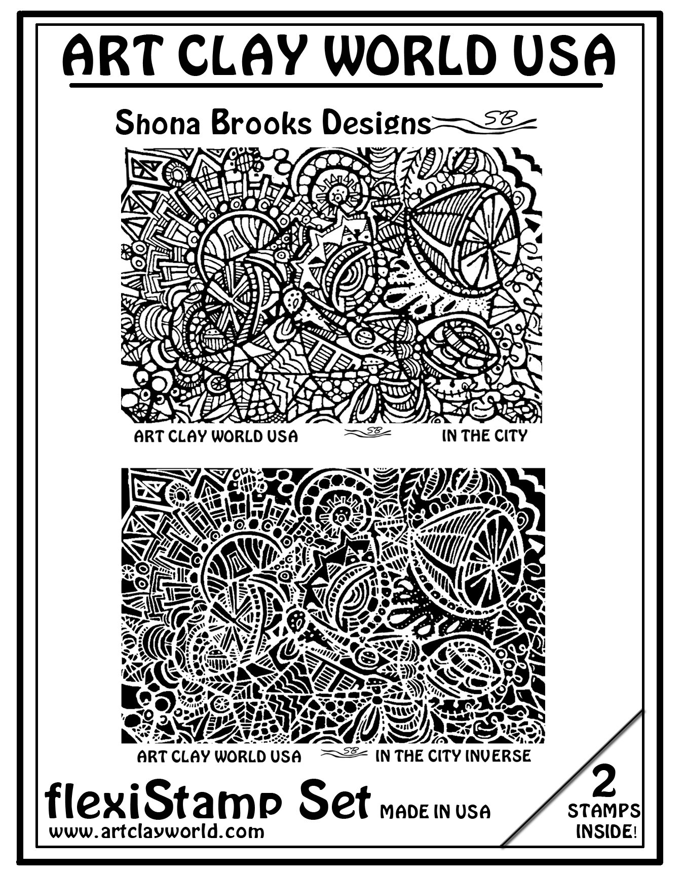 Flexistamps Texture Sheet Set Shona Brooks In The City Set (Including In The City and In The City Inverse)- 2 Pc.