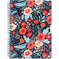 """Steel Mill & Co Cute Red/Blue Mini Spiral Notebook, 8.25"""" x 6.25"""" Journal with Durable Hardcover and 160 Lined Pages…"""