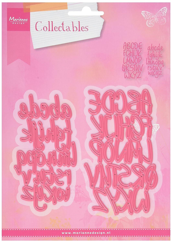 6.2x10.8x3 cm Metal Marianne Design Collectables Troqueles Alfabeto Rosa