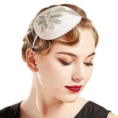 Coucoland 1920s Stirnband Haarclips Blatt Muster Damen 20er Jahre Stil Elegant Haarspange Gatsby Kost/üm Flapper Charleston Haar Accessoires