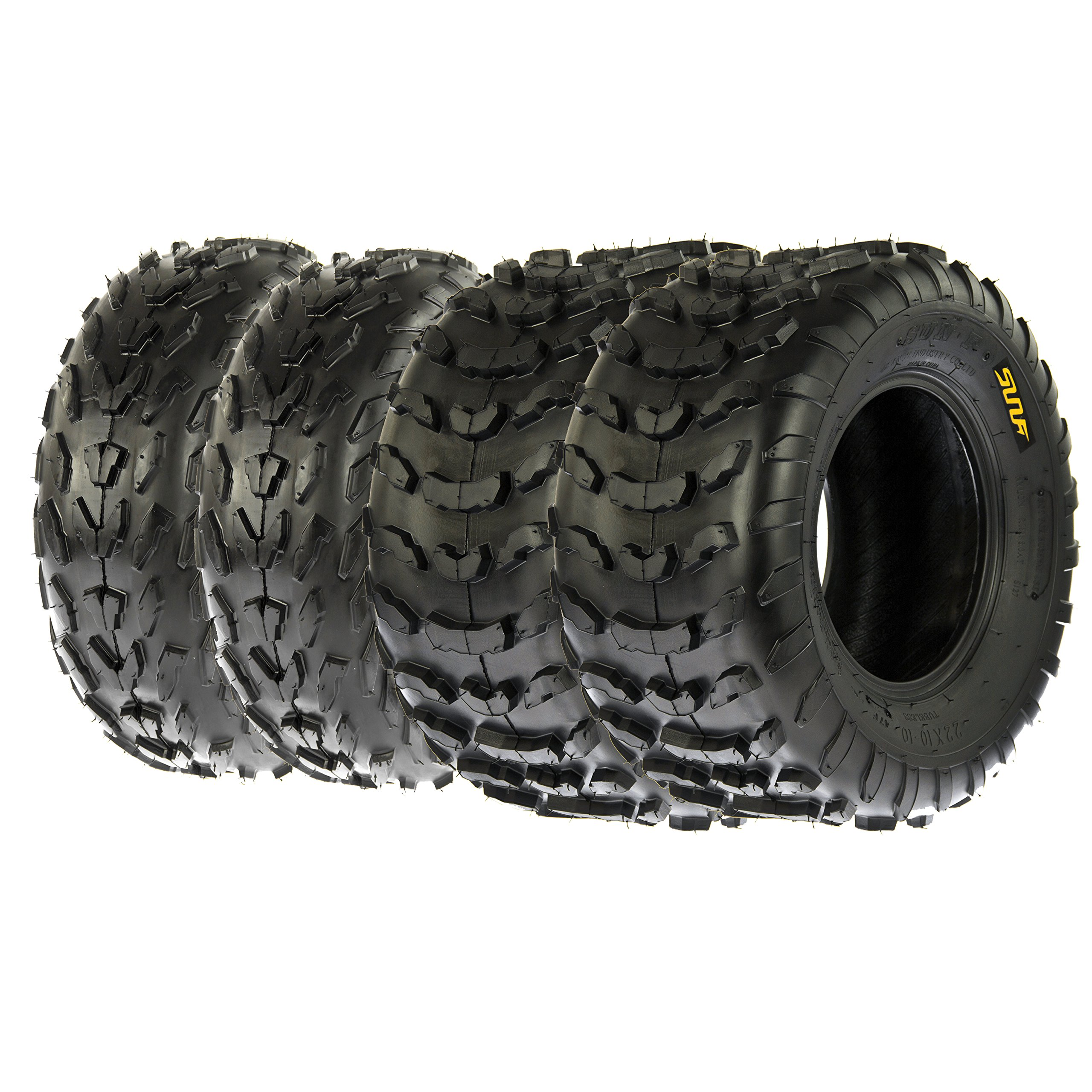 SunF A007 ATV / UTV Tires 23x7-10 Front & A006 22x10-10 Rear, Set of 4