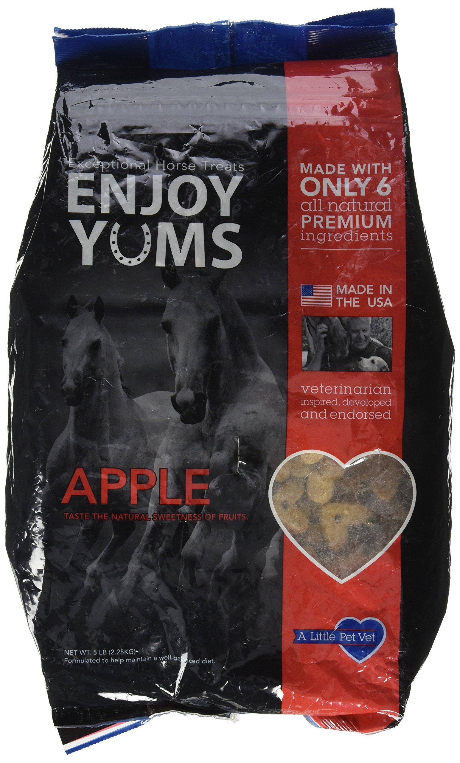 A Little Pet Vet Enjoy YUMS Horse Treats 5 lb Apple by A Little Pet Vet
