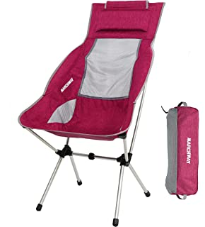 Amazon.com: KingCamp Silla plegable con reposabrazos, ultra ...