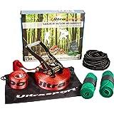 Ultrasport Kit de slacklining avec protection de crémaillère, protection d'arbres et corde auxiliaire de 15m