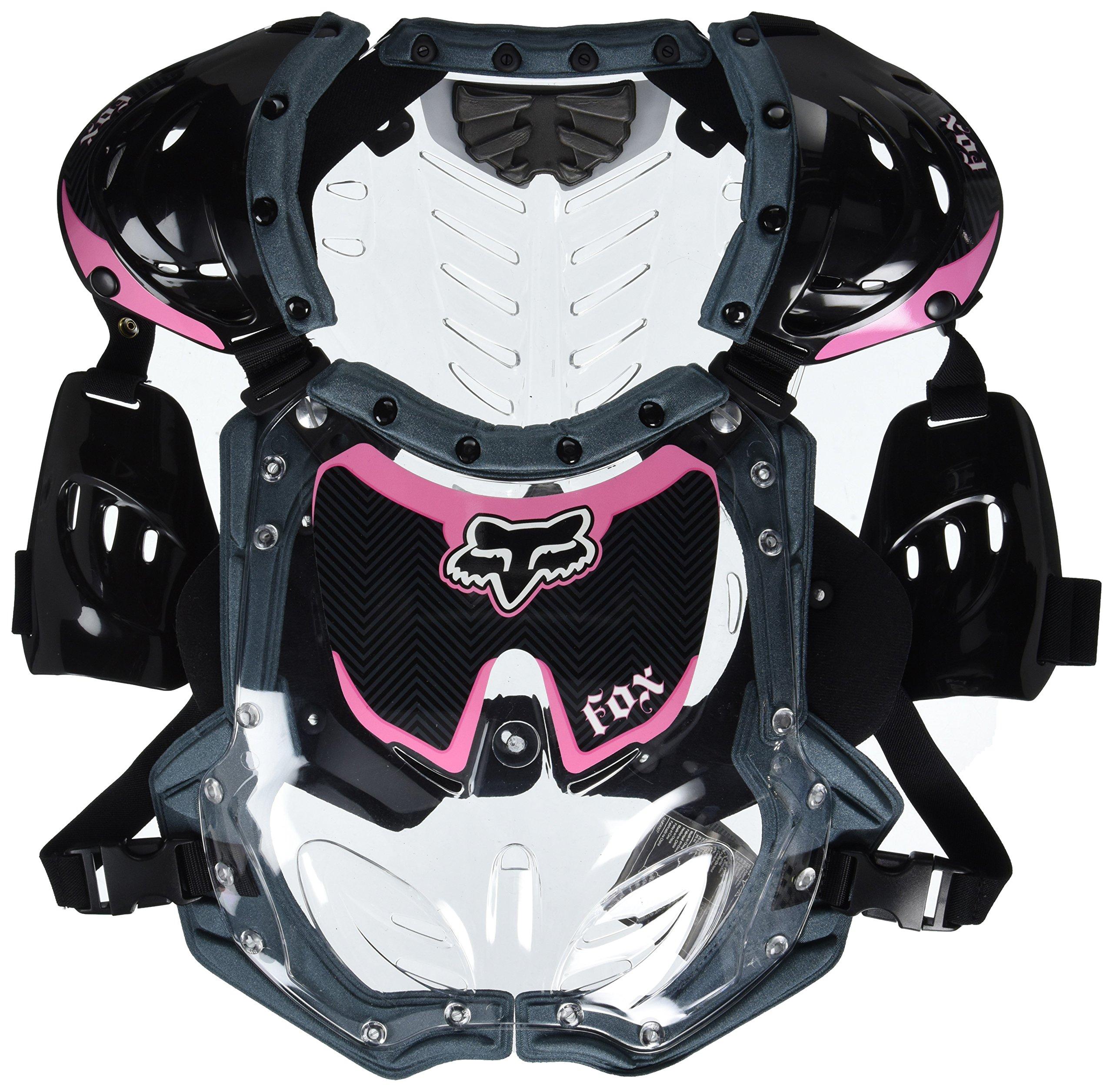 Fox Racing R3 Women's Roost Deflector MotoX Motorcycle Body Armor - Black/Pink / Small/Medium