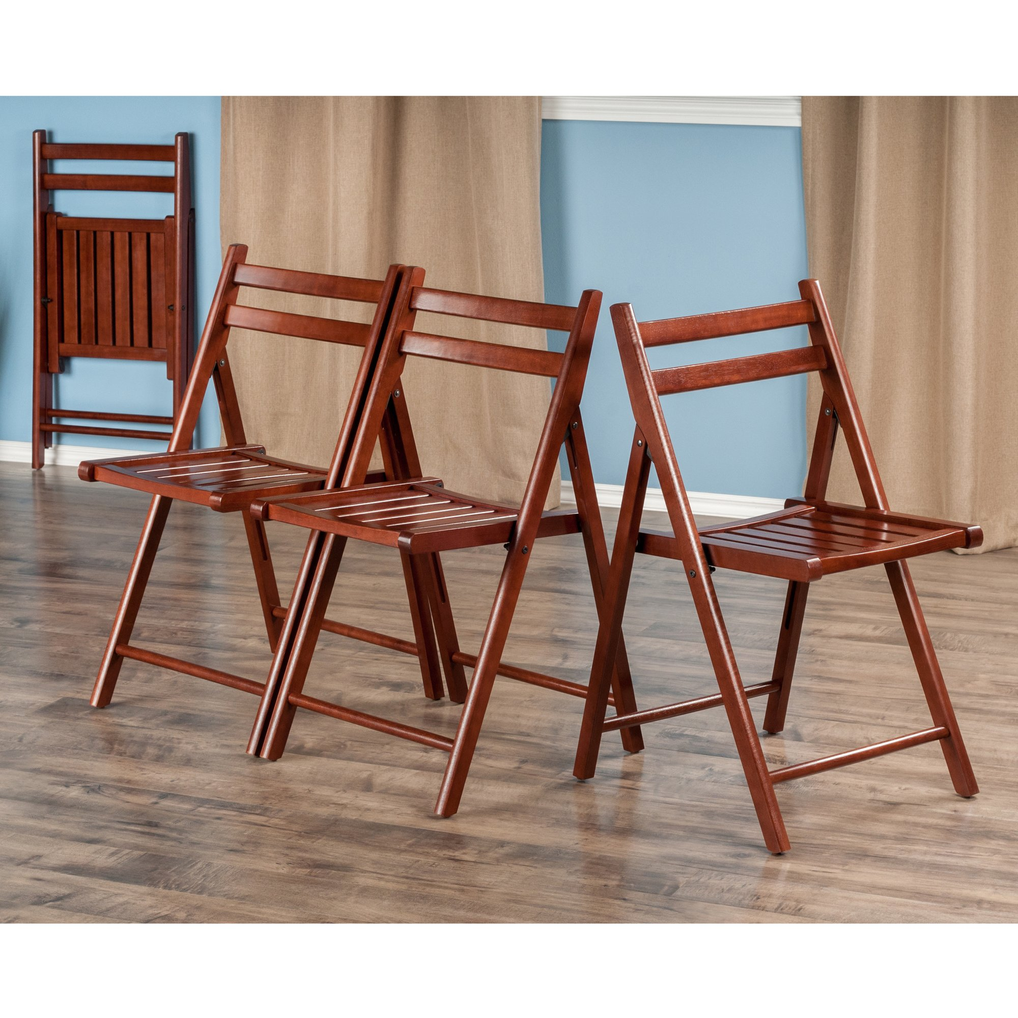 Winsome Wood Robin 4 Piece Folding Chair Set Walnut by Winsome Wood (Image #4)