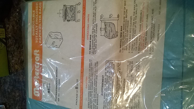 MasterCraft Model 4464 Vacuum Cleaner Bags