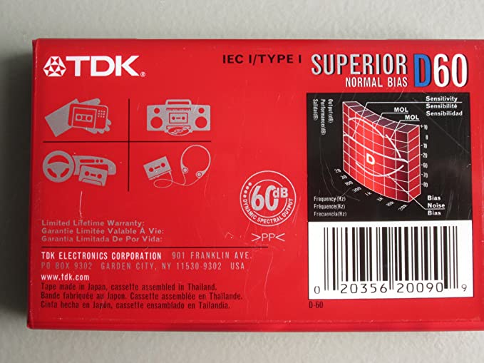 Amazon.com: TDK Superior D60 Cassette Tapes (Box of 10 Tapes): Home Audio & Theater