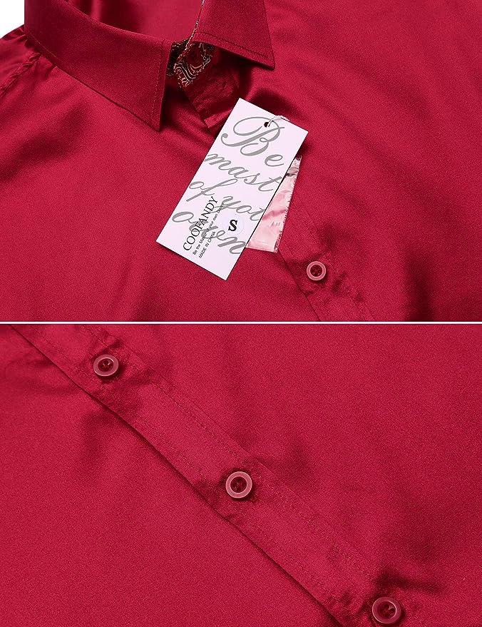 Coofandy Hombres de moda Slim Fit camisa Casual camisa