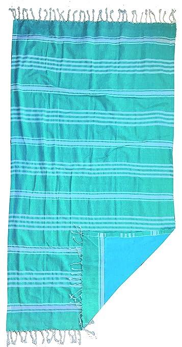 27x38x3 cm Algod/ón Textil Tarrag/ó Fluor Toalla Pareo Amarillo