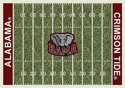 Milliken Alabama College Home Field Area Rug, 10 9 x 13 2 , 01010 Home Field