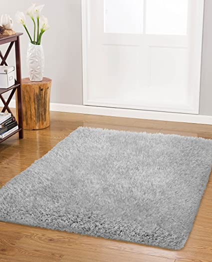 Vista Living Claudia Shag Area Rug 27 In. X 45 In., Silver