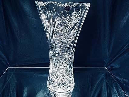 Amazon Czech Bohemian Crystal Glass Vase 12 H Decorative