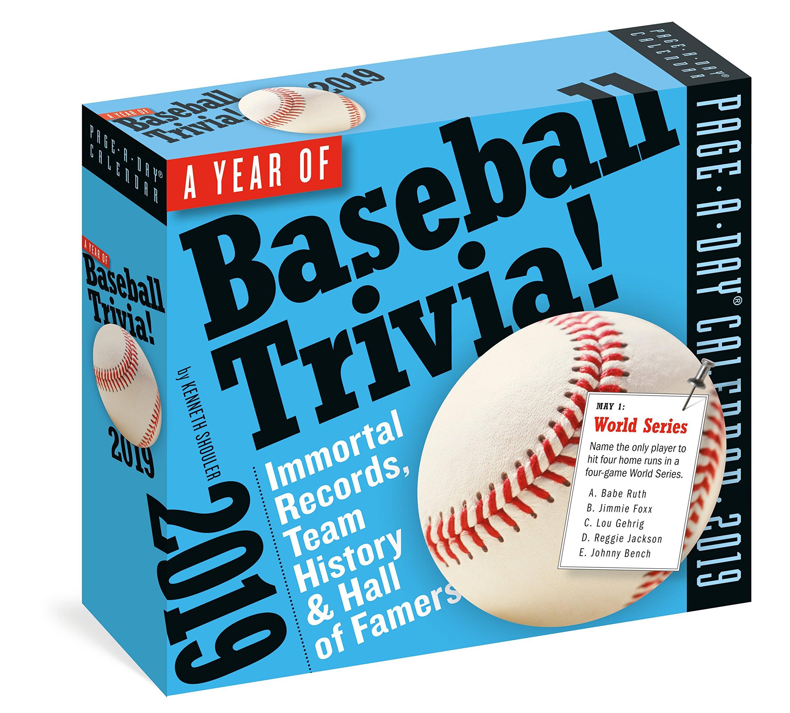 A Year of Baseball Trivia! Page-A-Day Calendar 2019 pdf epub