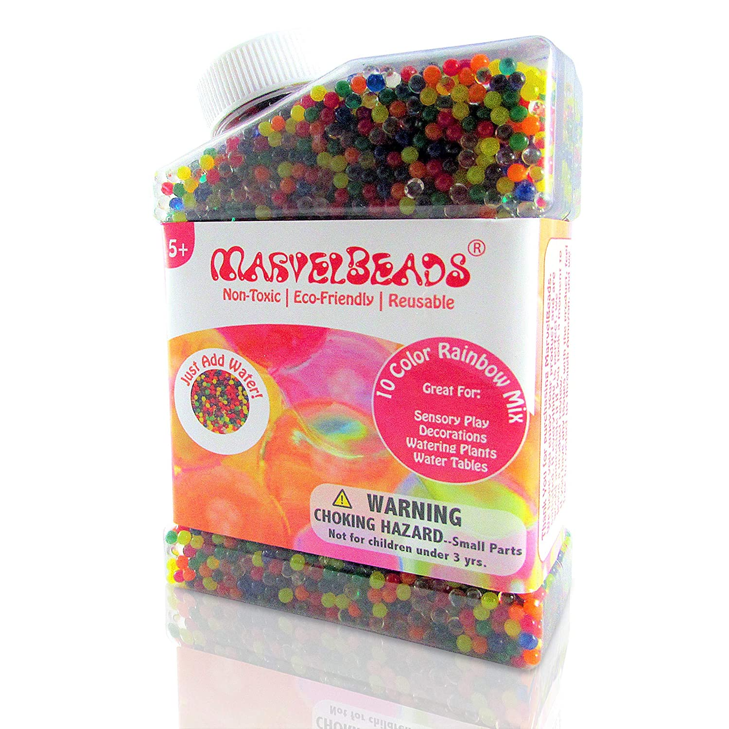 MarvelBeads Water Beads Rainbow Mix, Non-Toxic Elements Trading Inc