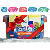 Huge Pack of Magic Sand - 4 Colours 4.4lbs, 18 pcs Tool, Travel Box, Eco Friendly