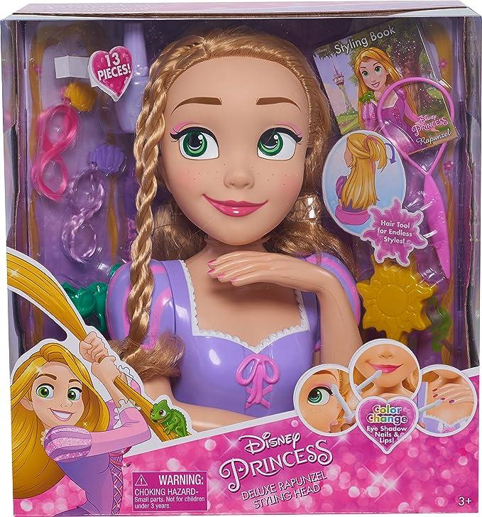 Amazon Disney Princess Deluxe Rapunzel Styling Head Doll Toys