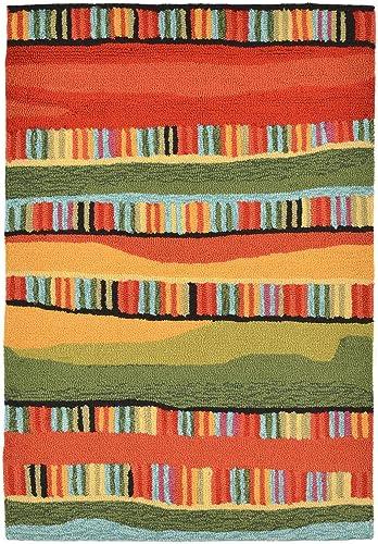 Liora Manne RV123A95024 Warm Torello Organic Stripes Rug, Indoor Outdoor, 24 x 36