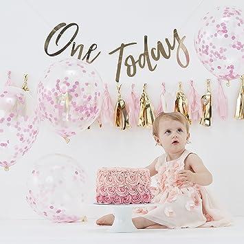 Ginger Ray Pink And Gold Girls First Birthday Cake Smash Birthday